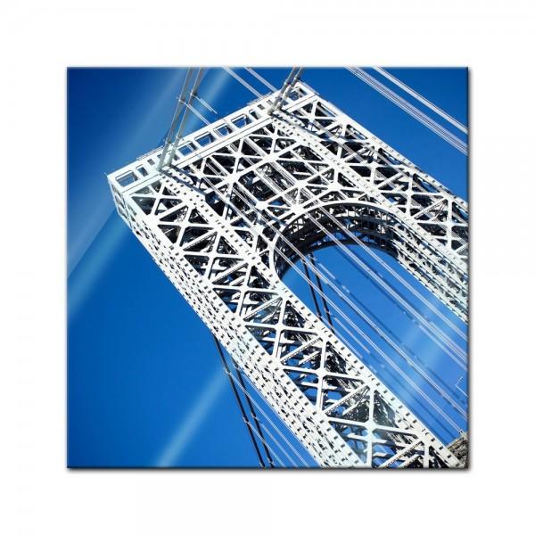 Glasbild - George Washington Bridge