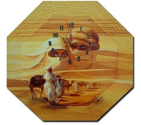 Wanduhr Wüste M2