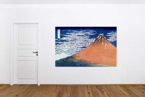Fototapete Katsushika Hokusai - Alte Meister - Roter Fuji