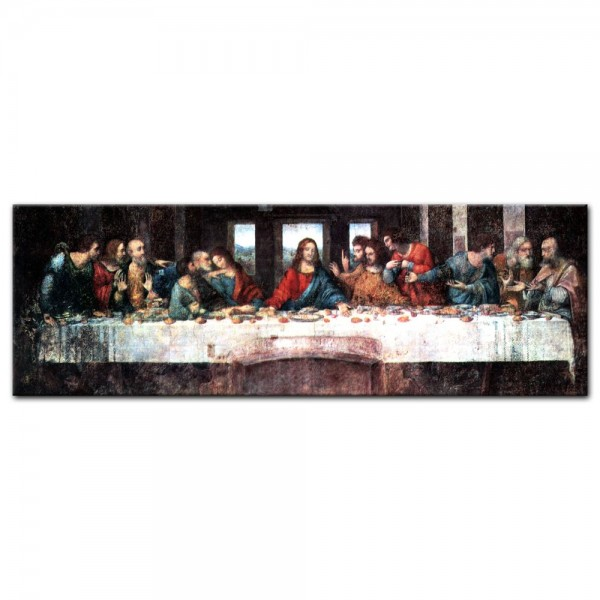 Leinwandbild - Leonardo da Vinci - Das Abendmahl