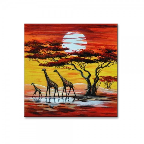Wandbild - Giraffen M1 Leinwandbild - M24