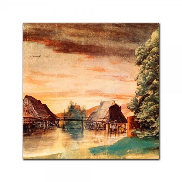 Glasbild Albrecht Dürer - Alte Meister - Die Weidenmühle