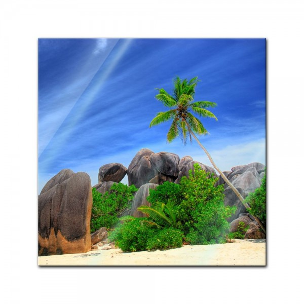 Glasbild - Seychellen Digue Island