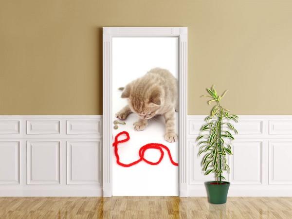 Türaufkleber - Katze - Love