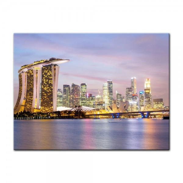 Leinwandbild - Singapur - Skyline II