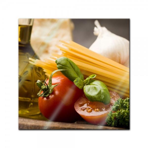 Glasbild - Italienische Pasta IV