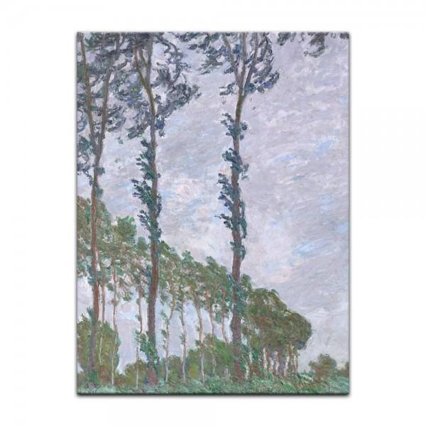 Leinwandbild - Claude Monet - Pappel, Wind