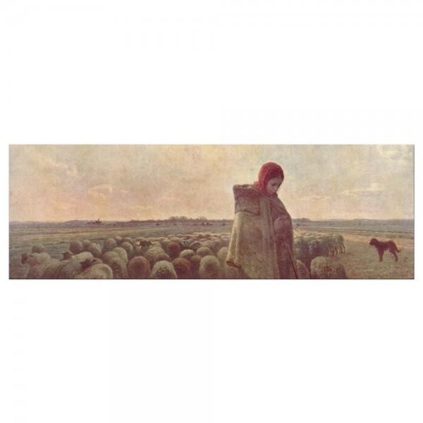 Leinwandbild - Jean-François Millet - Die Hirtin