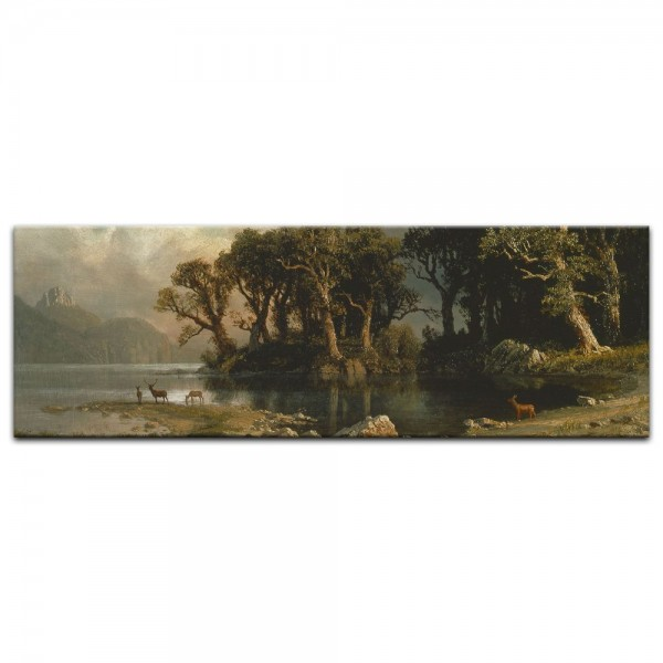 Leinwandbild - Albert Bierstadt - The coming storm