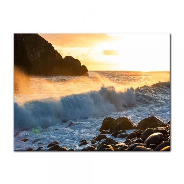 Leinwandbild - Küste von Madeira