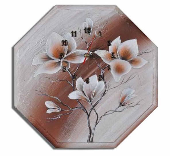 Wanduhr - Blumen M1