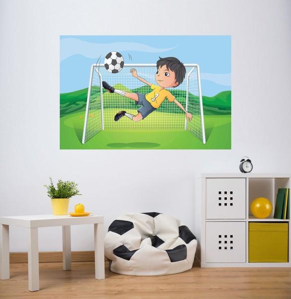 selbstklebende Fototapete - Kinderbild - Kicker Cartoon