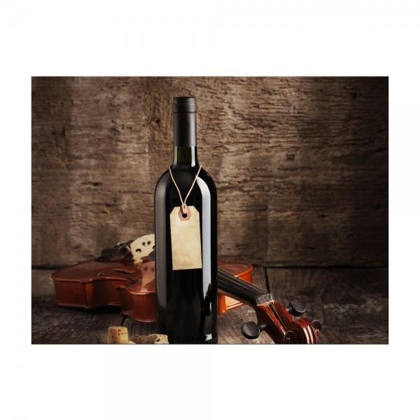 Leinwandbild - Wein und Violine