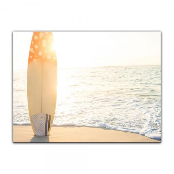 Leinwandbild - Surfboard am Strand