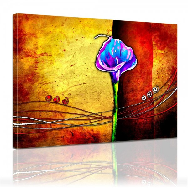 Leinwandbild - Moderne Kunst Blume
