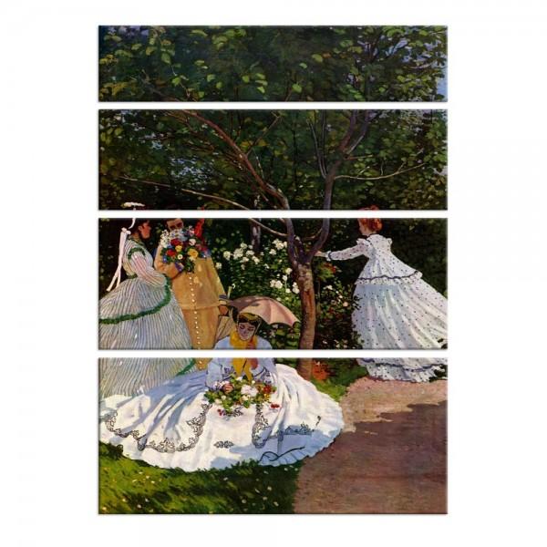 Leinwandbild - Claude Monet - Frauen im Garten