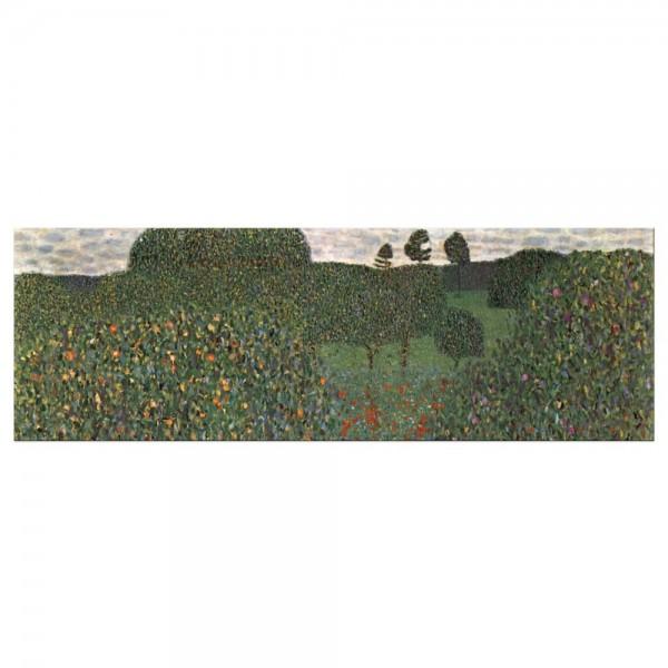 Leinwandbild - Gustav Klimt - Mohnfeld
