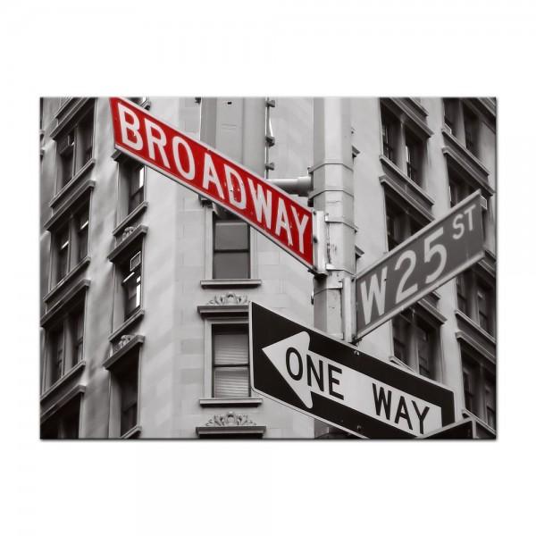 Leinwandbild - Broadway Strassenschild
