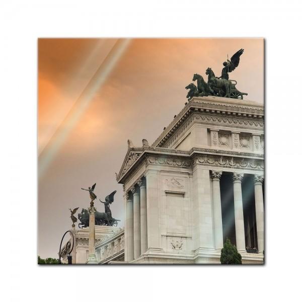 Glasbild - Monumento a Vittorio Emanuele II - Rom Italien
