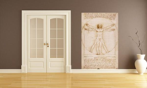 Fototapete Leonardo da Vinci - Alte Meister - Vitruvianischer Mensch