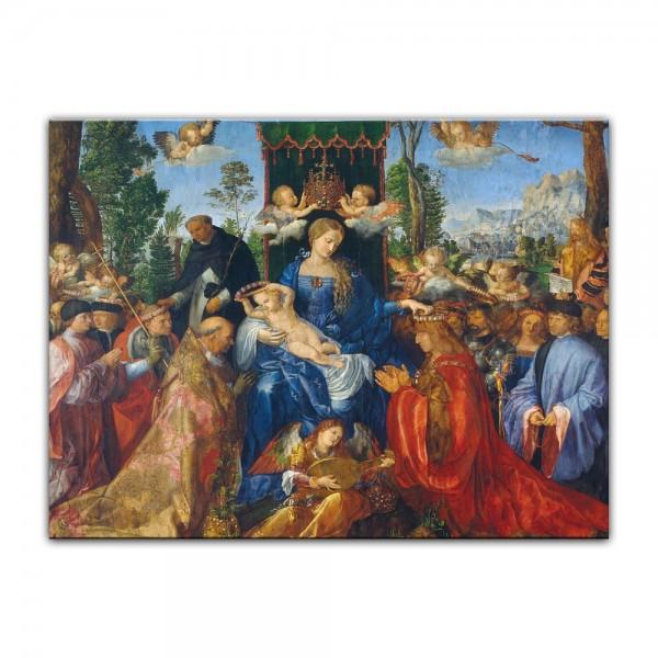 Leinwandbild - Albrecht Dürer - Das Rosenkranzfest