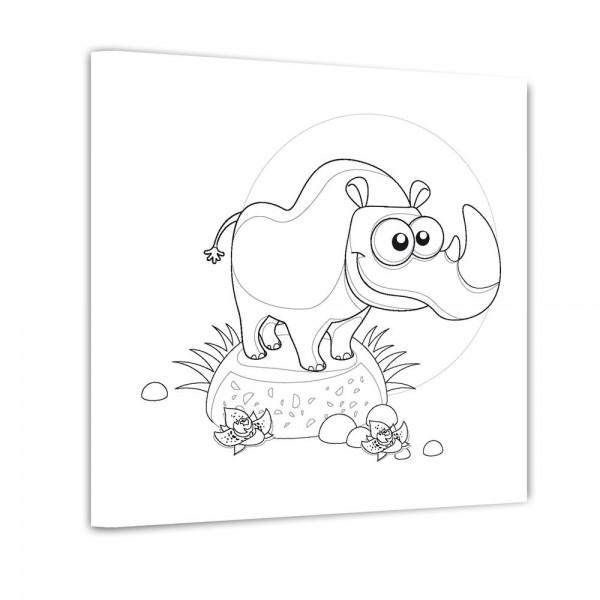 Nashorn - Ausmalbild