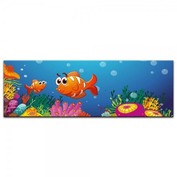 Leinwandbild - Kinderbild - Unter dem Meer Cartoon