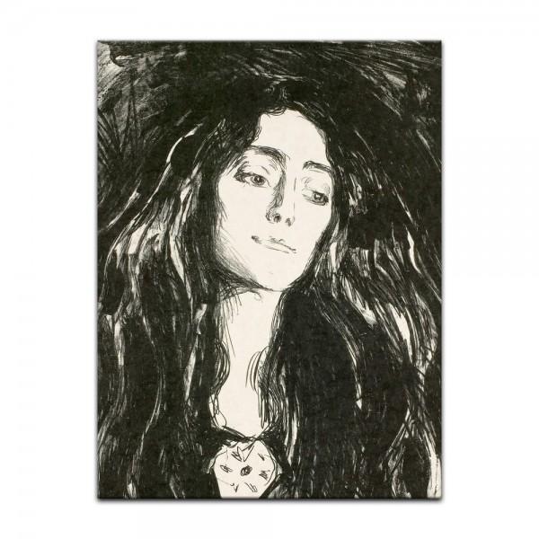 Leinwandbild - Edvard Munch - The Brooch - Die Brosche - Eva Mudocci