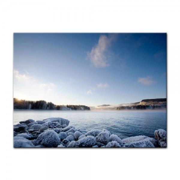 Leinwandbild - Winter Fjord