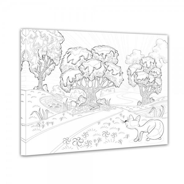 Phantasiebäume - Ausmalbild