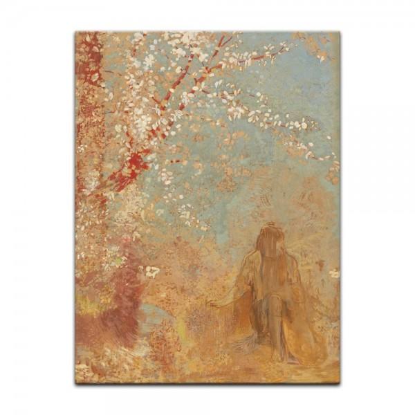 Leinwandbild - Odilon Redon - Baum in Blüte
