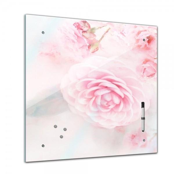 Memoboard - Aquarelle - Rosa Rosen - 40x40 cm