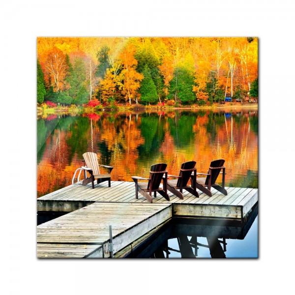 Glasbild - Herbstlandschaft