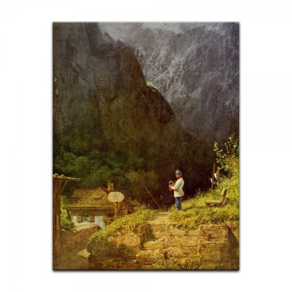 Leinwandbild - Carl Spitzweg - Tiroler Mauthaus