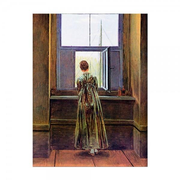 Leinwandbild - Caspar David Friedrich - Frau am Fenster