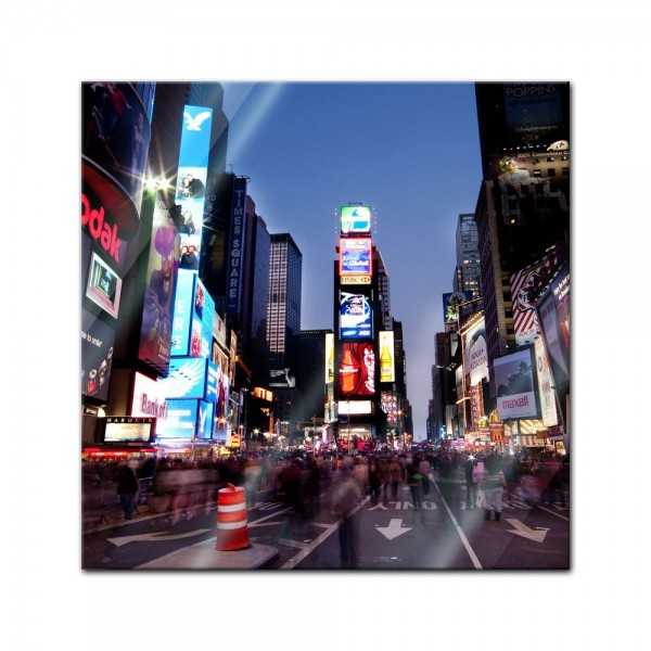 Glasbild - Times Square by Night