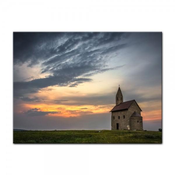 Leinwandbild - Alte Kirche in Dražovce - Slowakei
