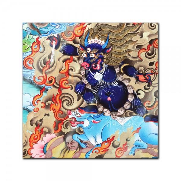 Glasbild - Indischer Gott Shiva