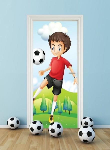 Türaufkleber - Kinderbild Kicker