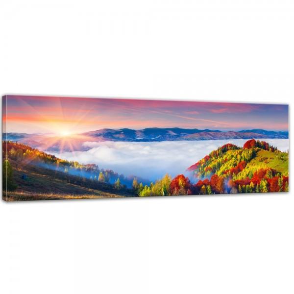 SALE Leinwandbild - Herbstmorgen - 160x50 cm