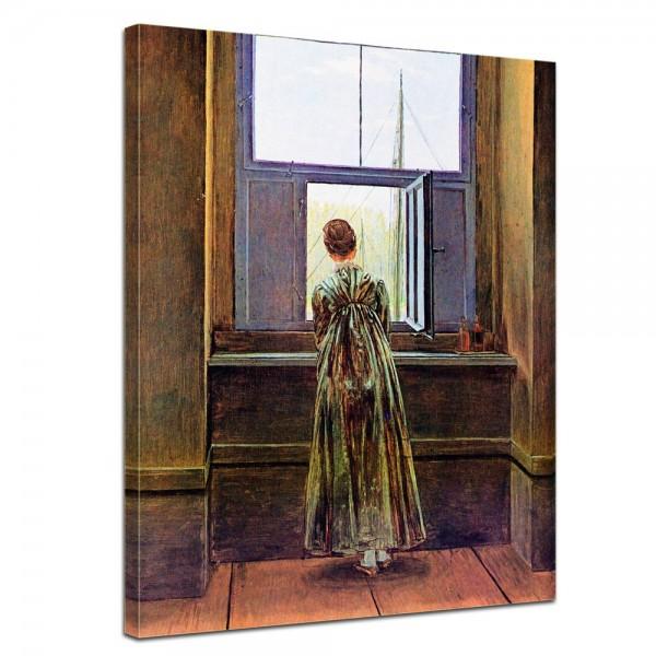 SALE Leinwandbild - Caspar David Friedrich Frau am Fenster - 30x40 cm