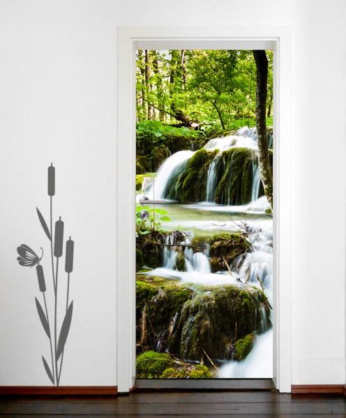 Türaufkleber Wasserfall in Plitvice, Kroatien