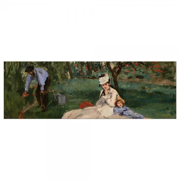 Leinwandbild - Édouard Manet - Die Familie Monet in ihrem Garten in Argenteuil