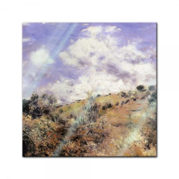 Glasbild Pierre-Auguste Renoir - Alte Meister - Starker Wind