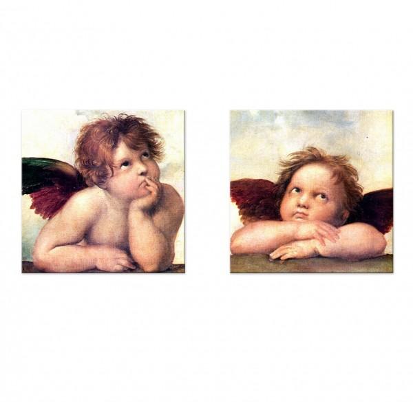 Leinwandbild - Raffael Engel I - Detail Sixtinische Madonna - Set