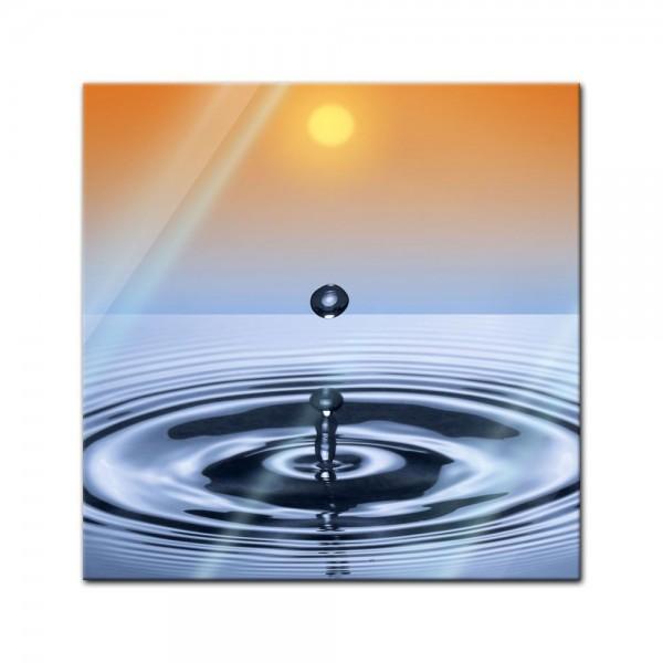 Glasbild - Waterdrop
