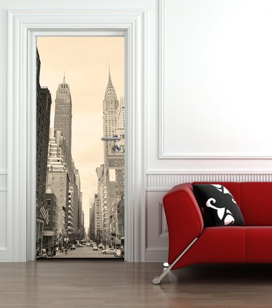 Türaufkleber Manhattan Street View