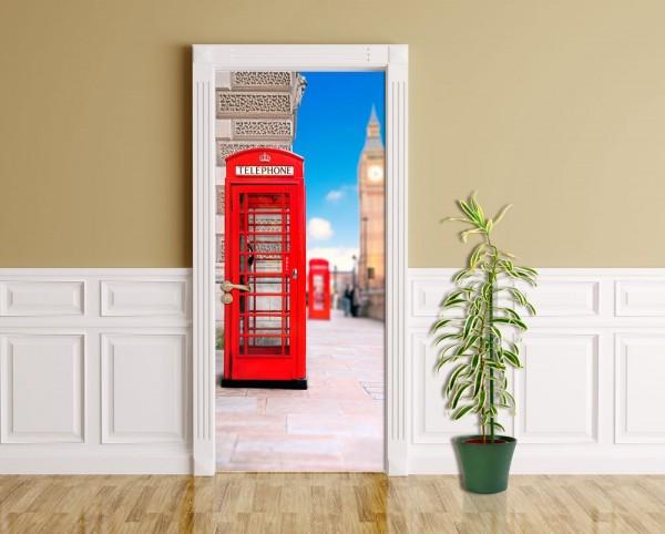 Türaufkleber - Englische Telefonzelle