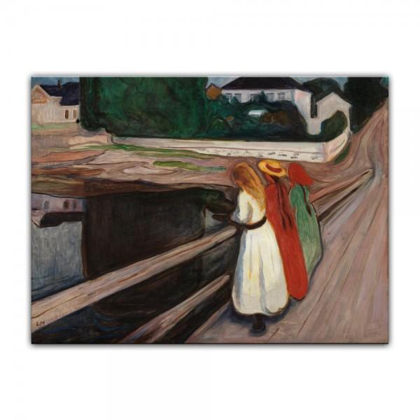 Leinwandbild - Edvard Munch - Mädchen auf der Brücke II