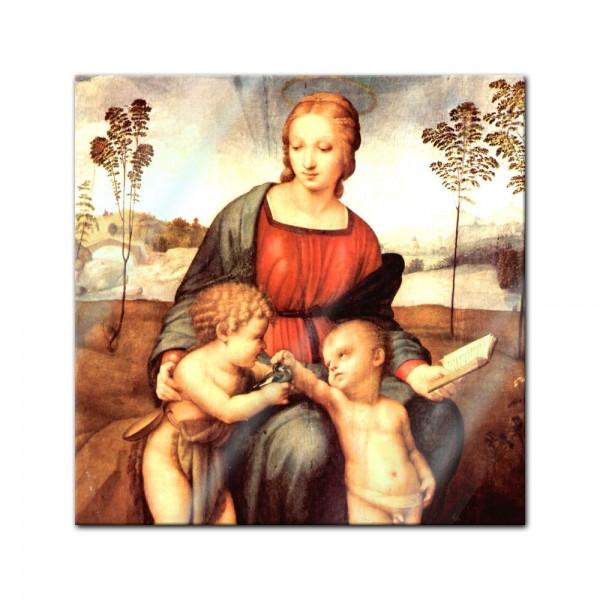 Glasbild Raffael - Alte Meister - Madonna del cardellino